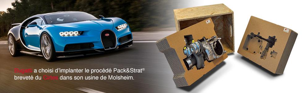 Bugatti implante Pack&Strat à Molsheim