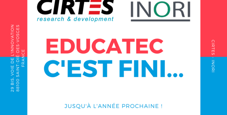 Retour sur le salon Educatec-Educatice |  INORI